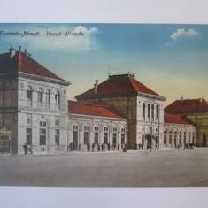 Carte postala Satu Mare-Gara,circulata 1922
