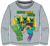 Bluza Minecraft ORIGINAL Steve Creepers 5-12 ani + Bratara CADOU !!, YL, YM, YS, YXS