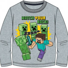 Bluza Minecraft ORIGINAL Steve Creepers  5-12 ani + Bratara CADOU !!