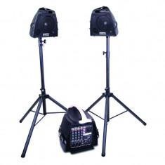 Sistem de sonorizare, mixer portabil 140 W, 2 x boxe 6.5 inch, telecomanda