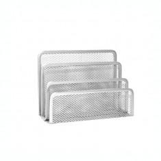 Suport pentru plicuri metalic mesh Forpus 30573 silver