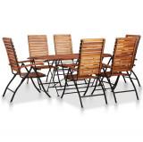 Cumpara ieftin Set mobilier de grădină, 7 piese, lemn masiv de acacia