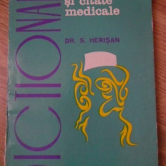 DICTIONAR DE AFORISME SI CITATE MEDICALE - S. HERISAN