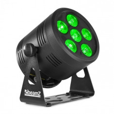 Beamz Professional BBP66 Uplight PAR, reflector LED, 6 W, LED-uri 4 în 1 RGBW, negru