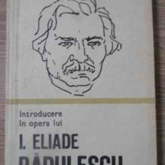 INTRODUCERE IN OPERA LUI I. ELIADE RADULESCU - AL. PIRU