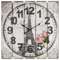 Ceas din lemn Tour Eiffel 58 x 58 cm