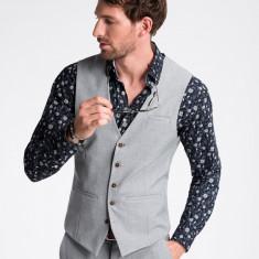 Vesta premium, eleganta, barbati - V47-gri-deschis