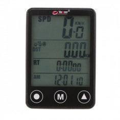Ciclocomputer Vitezometru Bicicleta cu Touch Screen, rezistent la apa, cu 24 functii, Edman Bogeer YT-308, Negru