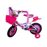 Bicicleta copii 12 inch cu pedale si roti ajutatoare Mov
