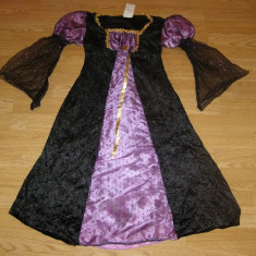 costum carnaval serbare rochie medievala regina printesa pentru copii de 6-7 ani