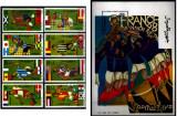 SOMALIA 1998 - Fotbal - WCup 1998, serie de 8v + colita, Nestampilat