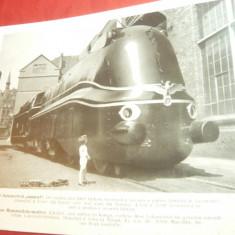 Fotografie tiparita ww2- Locomotiva gigant de razboi marca Henschel si Fiul din