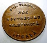 1.185 ROMANIA SART JETON TELEFONIC UNA CONVORBIRE TELEFONICA LOCALA 23,5mm