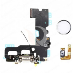 Home key flex, iphone 7, new solution charging dock flex cable with home button return, white