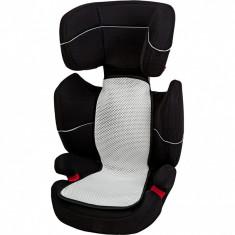Husa antitranspiratie pentru scaun auto grupa 2-3 Altabebe, 70 x 33/24 cm, Alb/Negru