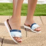 Papuci dama albastri Azimia