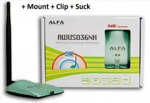 ALFA USB wifi adapter AWUS036NH 2W Kali Linux