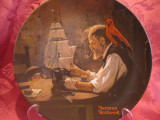 FARFURIE DECORATIVA PORTELAN - BRADEX AMERICA SEMNAT NORMAN ROCKWELL