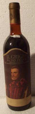 26 - VIN CHIANTI CLASSICO, IL GRIGIO SAN FELICE, DOC, recoltare 1969 cl 72 gr 13 foto