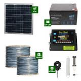 Gard electric Animale Sălbatice 6,6J putere cu Sârmă 1500m și Panou Solar
