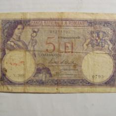 "CY - Bancnota Romania ""5 lei 19 Septembrie 1929"""