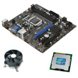Kit Placa de Baza Refurbished MSI H61M-E23, Intel Core i3-2100, Cooler