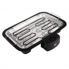 Gratar electric pentru barbeque, 2000 W, Negru