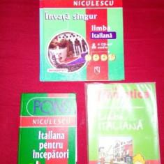 Colectie 3 carti de Limba Italiana, stare foarte buna, pret redus