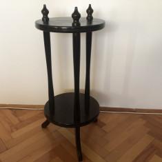 Suport vechi francez,din lemn masiv,cu trei picioare
