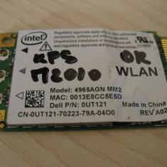 Placa wireless laptop Dell XPS M2010, Intel 4965AGN, 0UT121