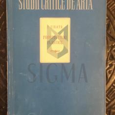 """STUDII CRITICE DE ARTA """"F. SIRATO"""", PROSPECTIUNI PLASTICE"""