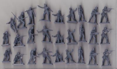 bnk cp Lot soldati de plastic germani pentru diorame foto