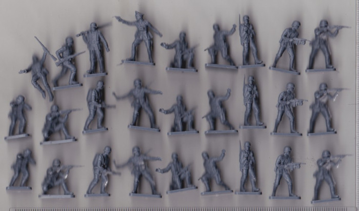 bnk cp Lot soldati de plastic germani pentru diorame