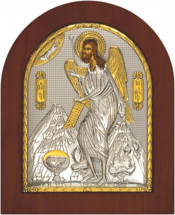 Sfantul Ioan Botezatorul, Foita Argint 925, 190x156mm,Cod Produs:x-1405