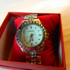 Ceas de dama nou , STRADA , cu pietre + cutie