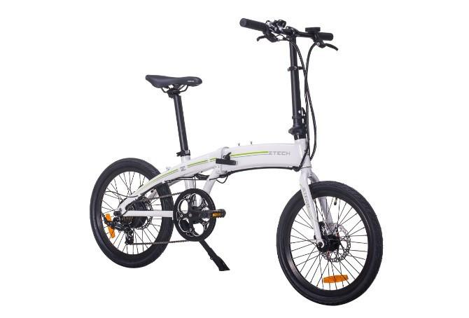 Bicicleta electrica cadru aluminiu Pliabila motor 250W Baterii 36V 7,8Ah Li-ion ZT-74 FOLDING LITHIUM ALB