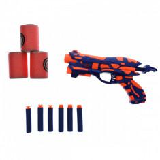Pistol de jucarie cu ventuze spuma si butoaie tinta - 2278A