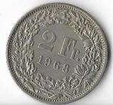 Moneda 2 francs 1968 - Elvetia