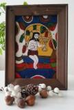 Iisus Hristos-Vita de Vie-icoana pictata pe sticla