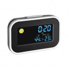 Termo-higrometru TFA, LCD, cu ceas si alarma