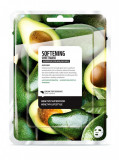 Masca faciala coreeana nutritiva de tip servetel cu avocado, Farm Skin, 1 buc