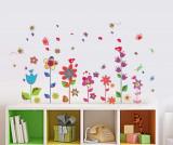 Sticker Colourful Flowers Butterflies