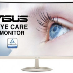 Monitor VA LED ASUS 27inch VZ27VQ, Full HD (1920 x 1080), VGA, HDMI, DisplayPort, Ecran curbat, Boxe, 5 ms (Negru/Auriu)