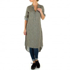 Bluza sic, asimetrica, in dungi verticale - Milas, M, Verde
