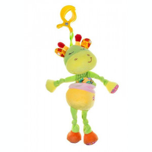 Jucarie copii din plus Akuku cu clips GIRAFFE A0389