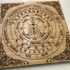 pendul radiestezie-plansa lemn +cadou set cele 7 chakre