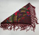 Batic etno mare Imprimeu floral panza Maro