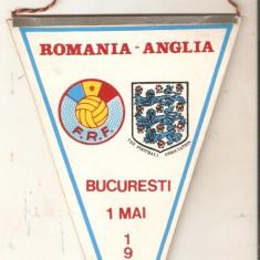 Fanion Romania-Anglia  1 mai -1985