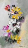 Tablou ulei (15/25cm)-FLORI DE TOAMNA, Impresionism