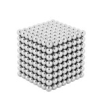 Cumpara ieftin Joc puzzle antistres NeoCube cu 512 bile magnetice, 5mm argintiu